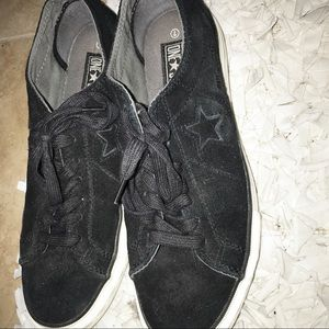 Converse Cons One Star Black Suede Sneakers